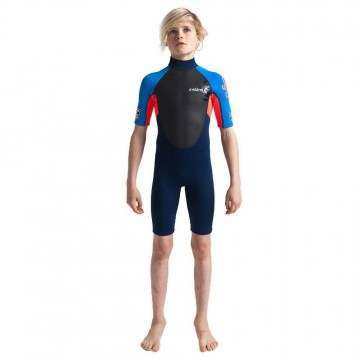 CSkins Kids Element 3/2 Shorty Wetsuit Navy/Red