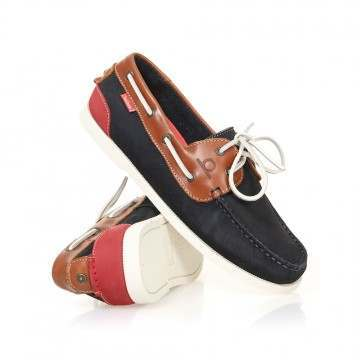 Chatham Galley II Shoes Navy/Tan