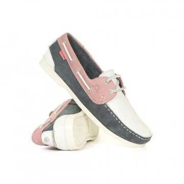 Chatham Willow Shoes White/Navy/Pink