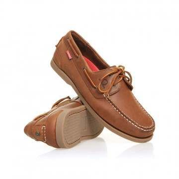 Chatham Galley II Leather Shoes Dark Tan