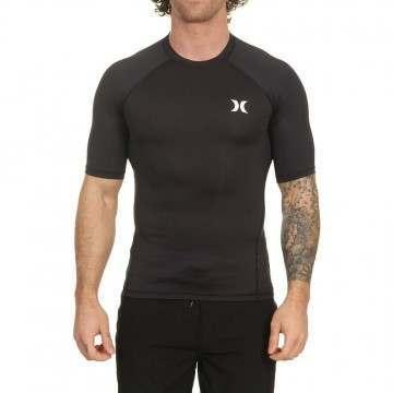 Hurley Pro Light Short Sleeve Rash Vest Black