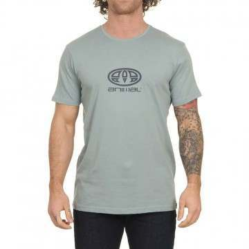 Animal Stacked Tee Lead Grey