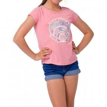 Animal Girls Shelby Tee Flamingo Pink
