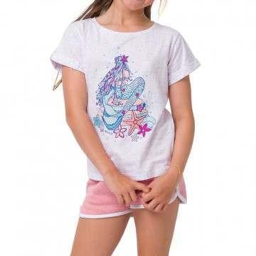 Animal Girls Mermaid Tee White