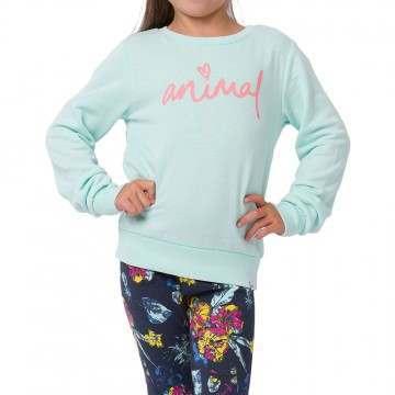 Animal Girls Mila Crew Misty Green