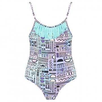 Animal Girls Ripples Swimsuit Iris Blue