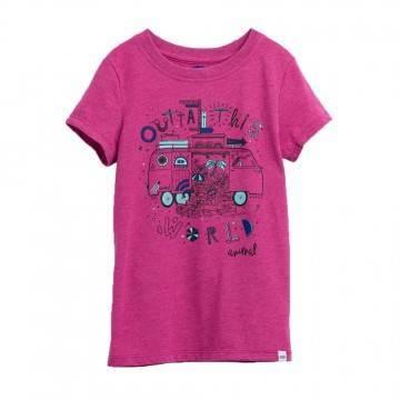 Animal Girls Dreambus Tee Rosewood Pink