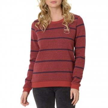 Animal Stripes Crew Mineral Red