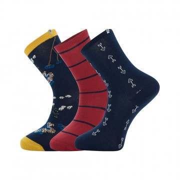 Animal Alizie 3 Pack Socks Sky Captain