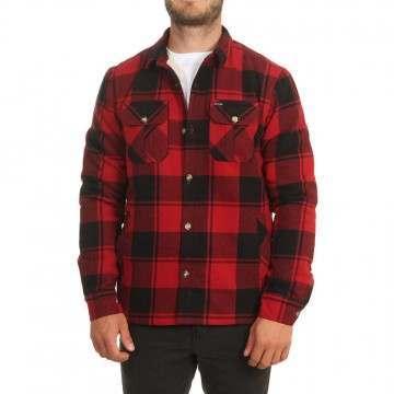 Animal Silvertoe Sherpa Flannel Shirt Dahlia Red