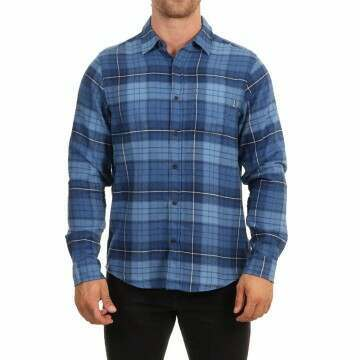 Hurley Portland Flannel Shirt Stone Blue