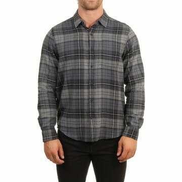 Hurley Portland Flannel Shirt Smoke Grey