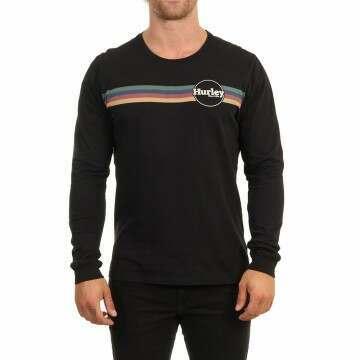 Hurley Jammer Stripe Long Sleeve Top Black