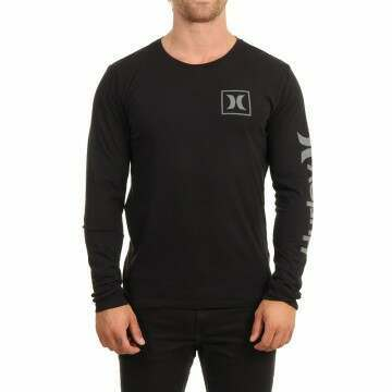 Hurley One & Only Icon Long Sleeve Top Black