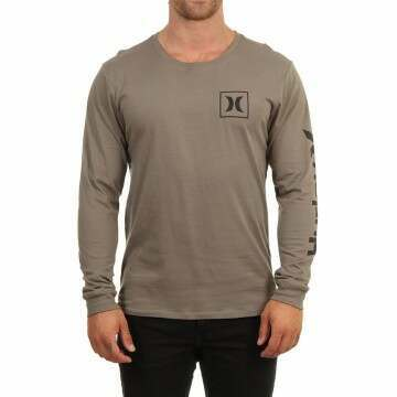 Hurley One & Only Icon L/S Top Olive Grey