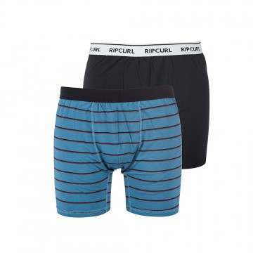 Ripcurl Stripy And Solid Boxers Dirty Teal