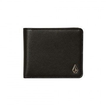 Volcom Slim Stone PU Wallet Black