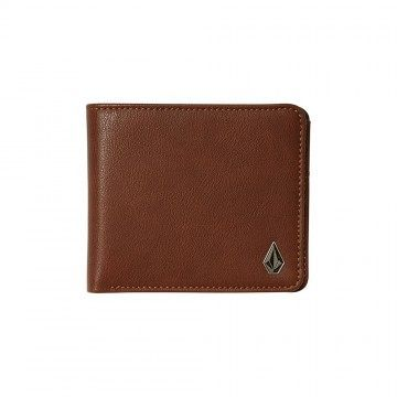 Volcom Slim Stone PU Wallet Brown