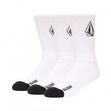 Volcom Full Stone Sock 3PK White