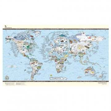 Snow Trip World Map Poster