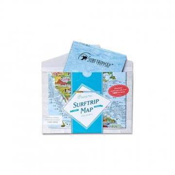 Surf Trip Map Global Foldable