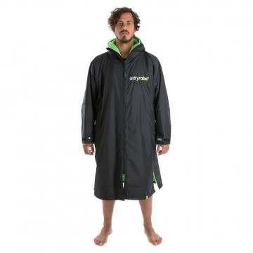 Dryrobe Long Sleeve Changing Robe Black Green