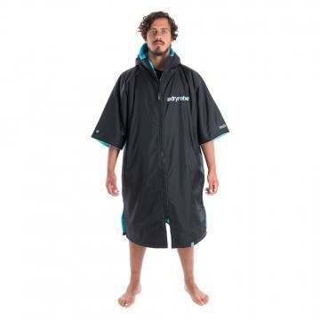 Dryrobe Short Sleeve Changing Robe Black Blue