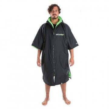 Dryrobe Short Sleeve Changing Robe Black Green