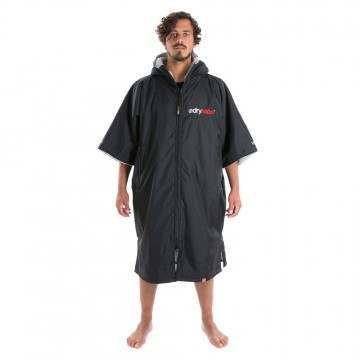 Dryrobe Short Sleeve Changing Robe Black Grey