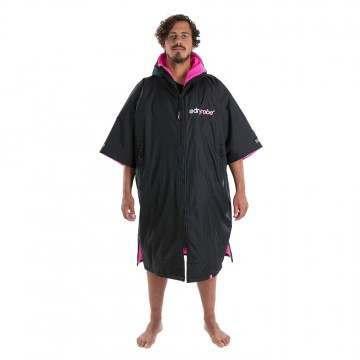 Dryrobe Short Sleeve Changing Robe Black Pink