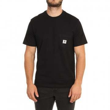 Element Basic Pocket Label Tee Flint Black