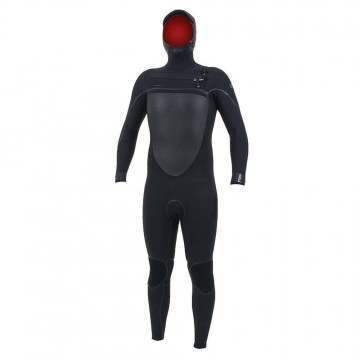 ONeill Psycho Tech 6/4+ Hooded Wetsuit Black