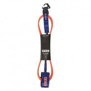 FCS All Round Essential Surf Leash 6FT Orange/Navy
