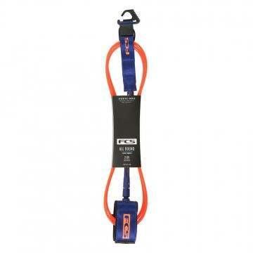 FCS All Round Essential Surf Leash 7FT Orange/Navy