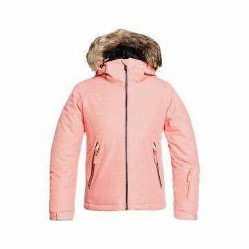 Roxy Girls Jet Ski Solid Snow Jacket Coral