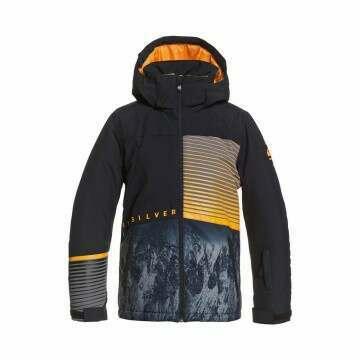 Quiksilver Boys Silvertip Snow Jacket Black
