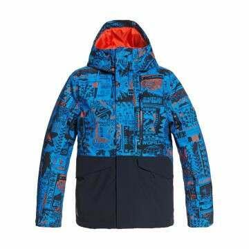 Quiksilver Boys Block Snow Jkt Blue Print