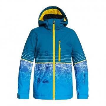 Quiksilver Boys Silvertip Snow Jacket Blue