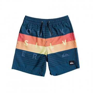 Quiksilver Boys Word Volley Shorts Blue