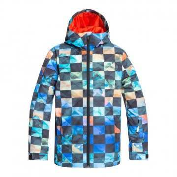 Quiksilver Boys Mission Print Snow Jacket Ongrid