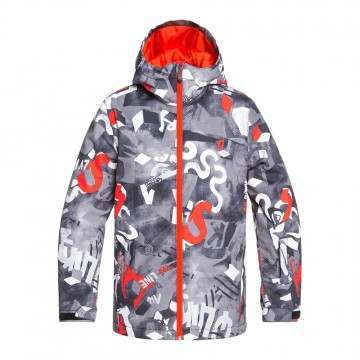 Quiksilver Boys Mission Print Snow Jacket Giant