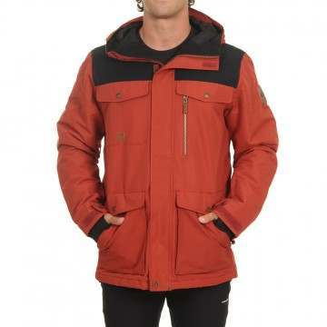 Quiksilver Raft Snow Jacket Barn Red