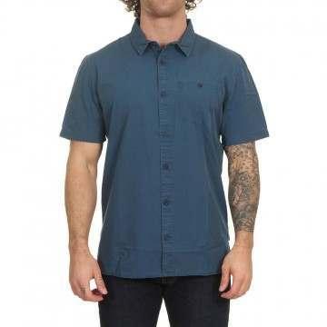 Quiksilver Taxer Wash Shirt Majolica Blue