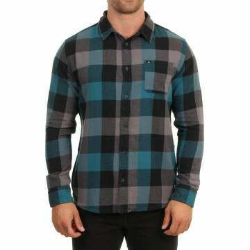Quiksilver Motherfly Flannel Shirt Blue Coral