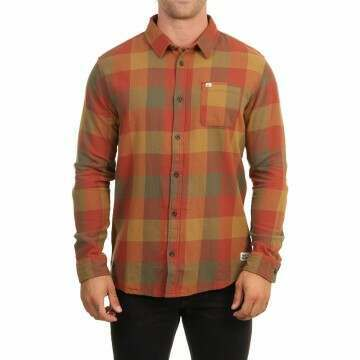 Quiksilver Motherfly Flannel Shirt Henna