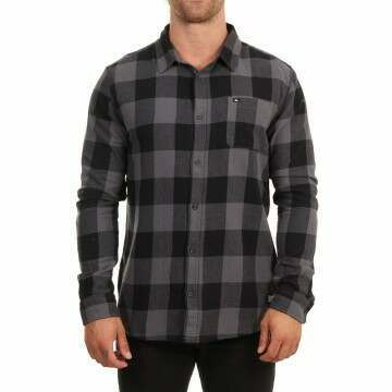 Quiksilver Motherfly Flannel Shirt Irongate