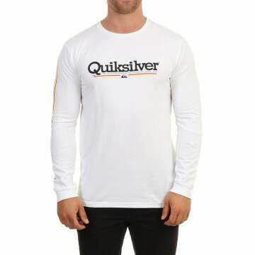 Quiksilver Tropical Lines Long Sleeve Top White