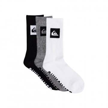 Quiksilver 3 Pack Crew Socks Assorted