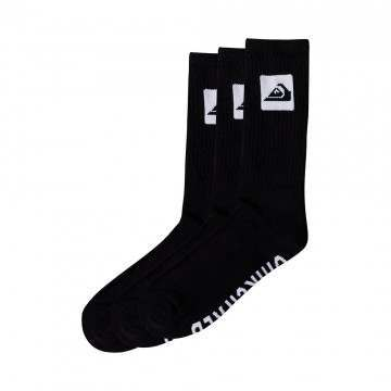 Quiksilver 3 Pack Crew Socks Black