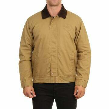 Quiksilver Canvas Cord Collar Jacket Dull Gold